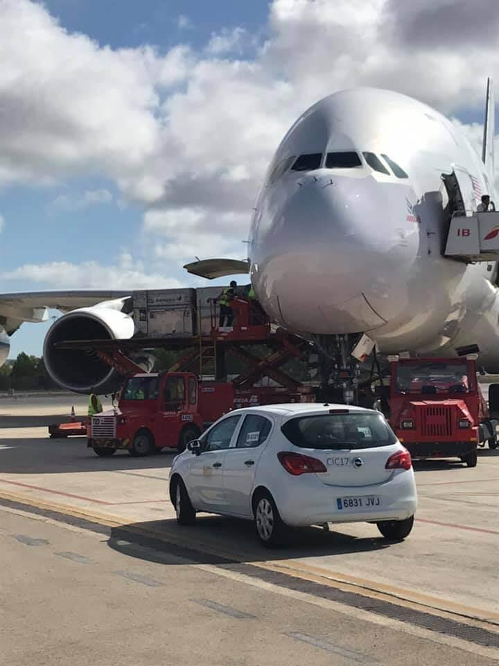 A380 in Mallorca