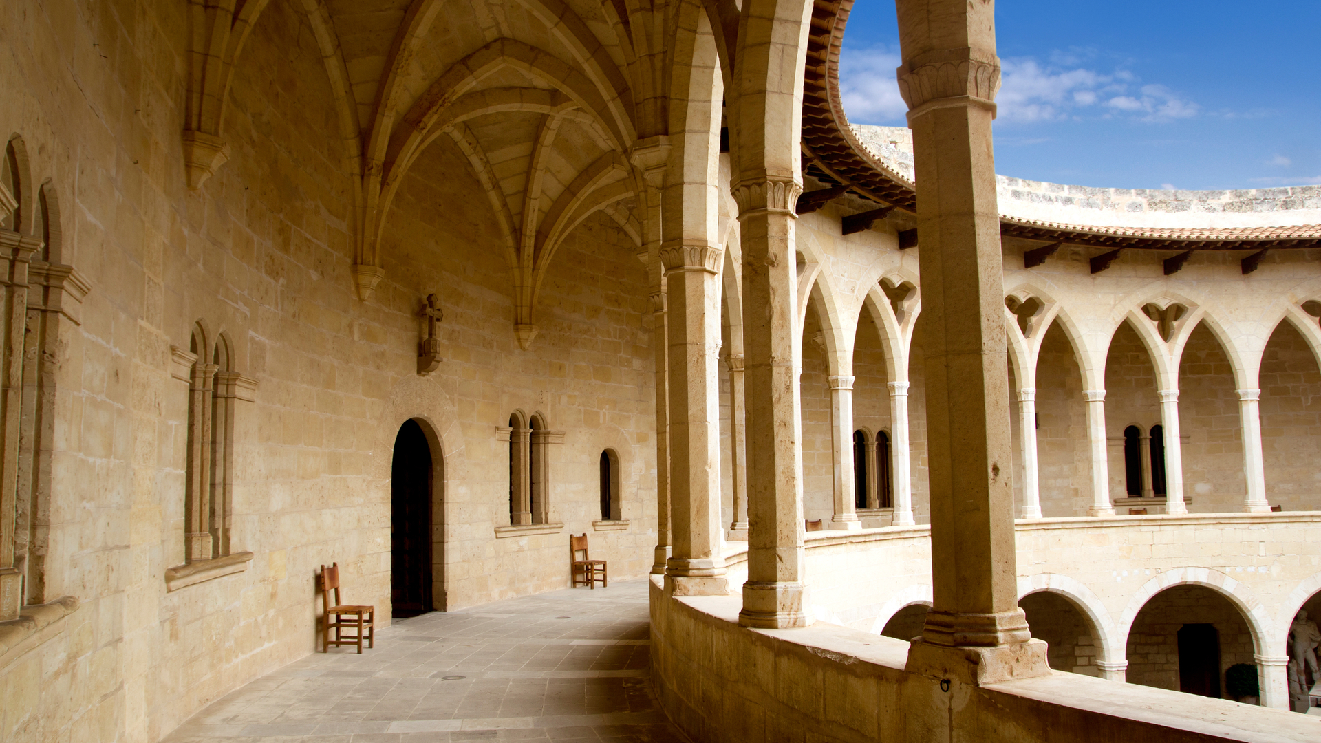 Bellver castle inside