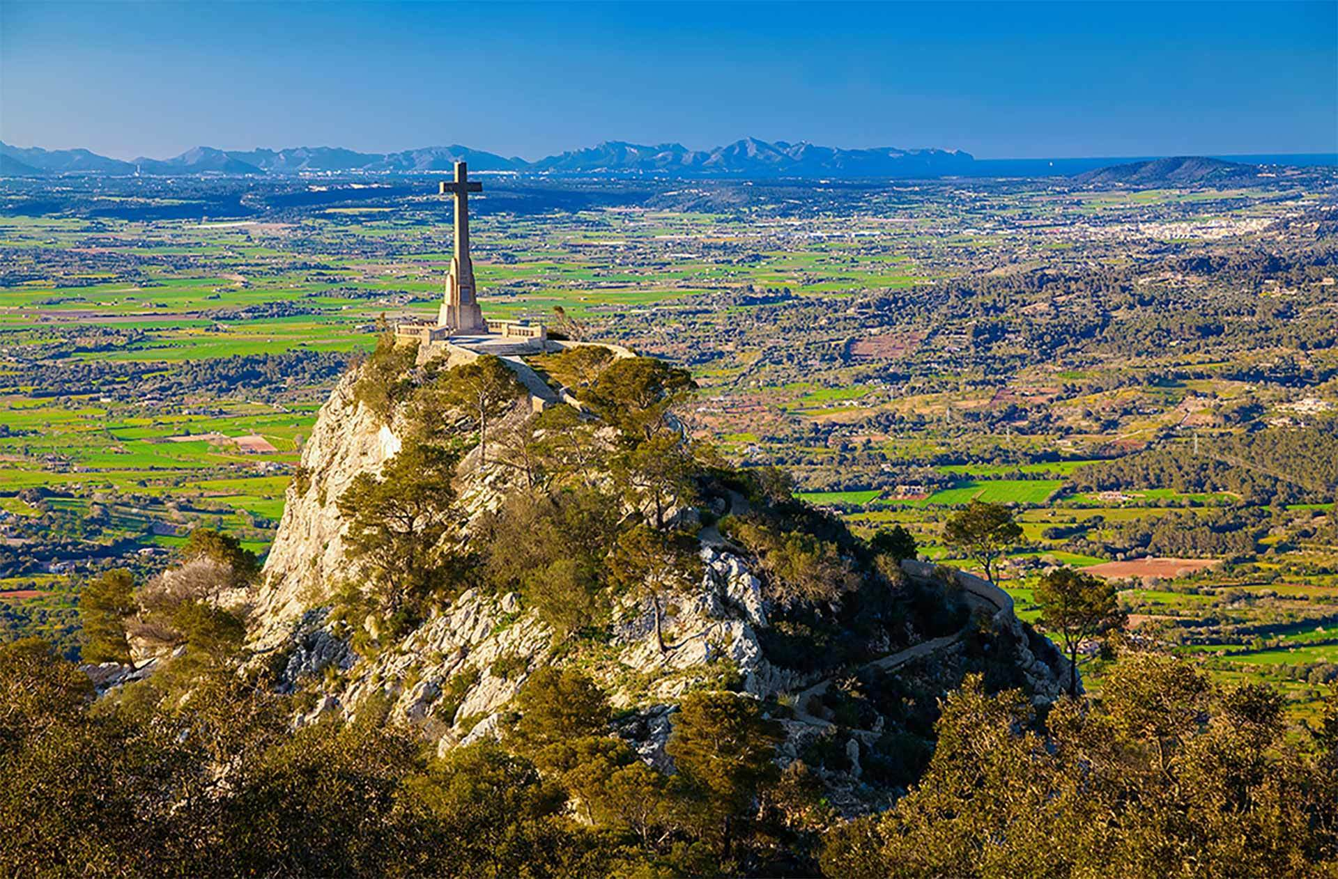 Felanitx Cross On Mountain
