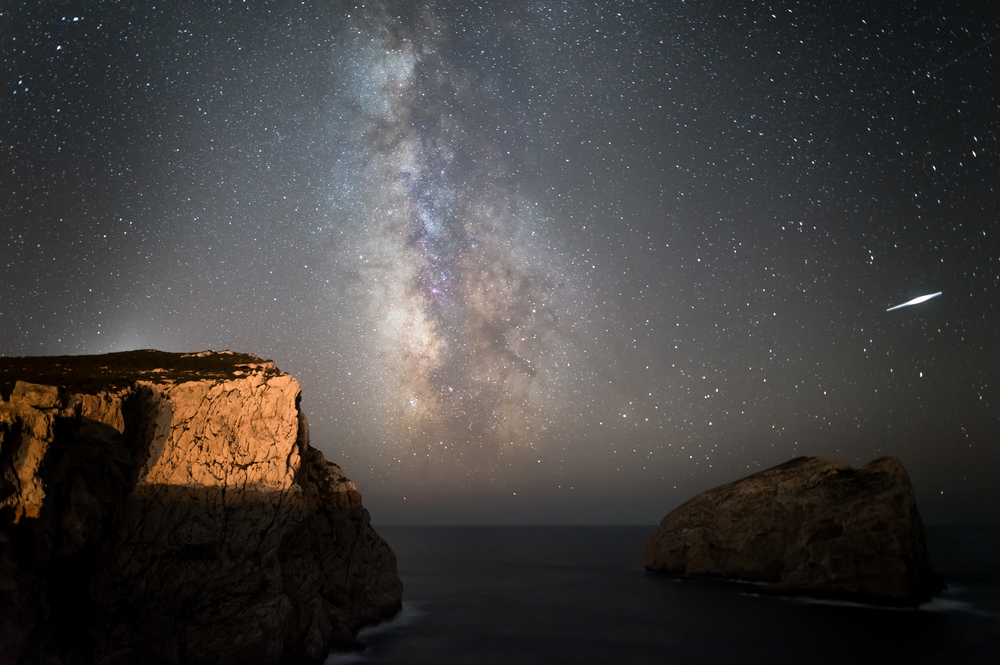 Milky Way and Shooting Star 2