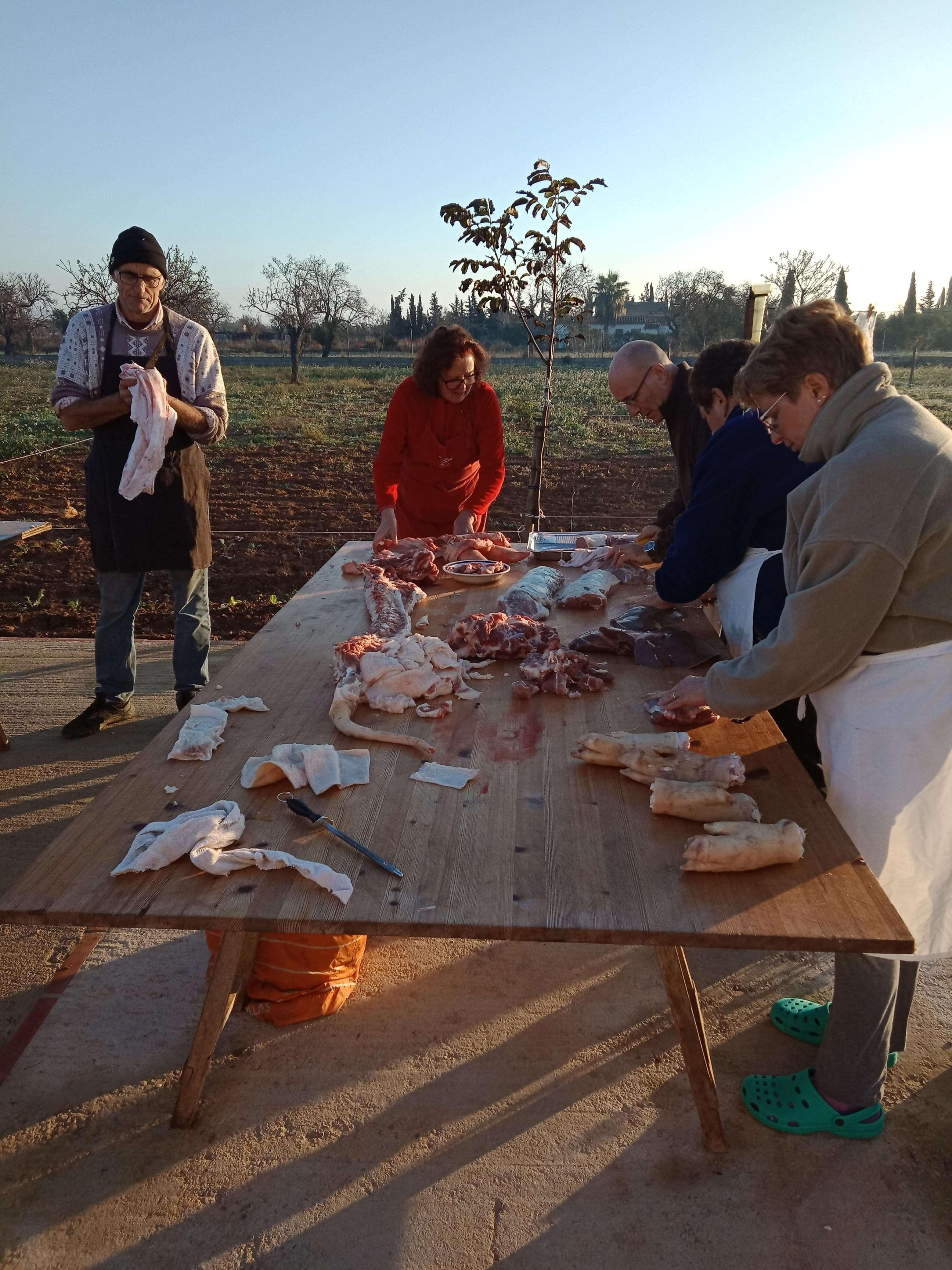 Preparing the meat min