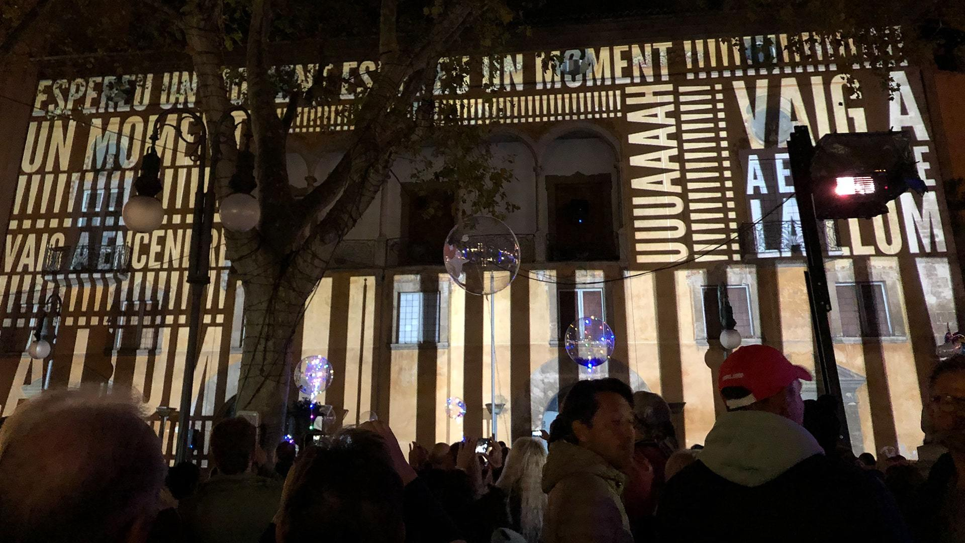 Christmas lights opening ceremony palma min