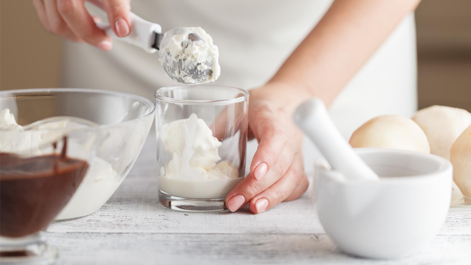 Making almond ice cream