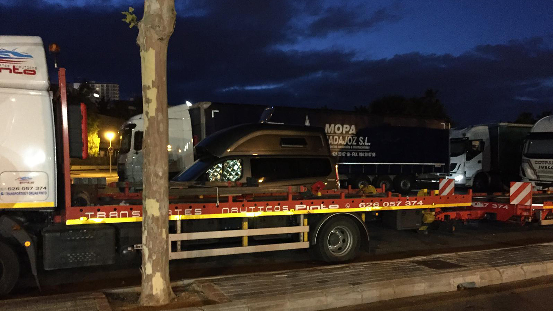 Mallorca camper van parking truck