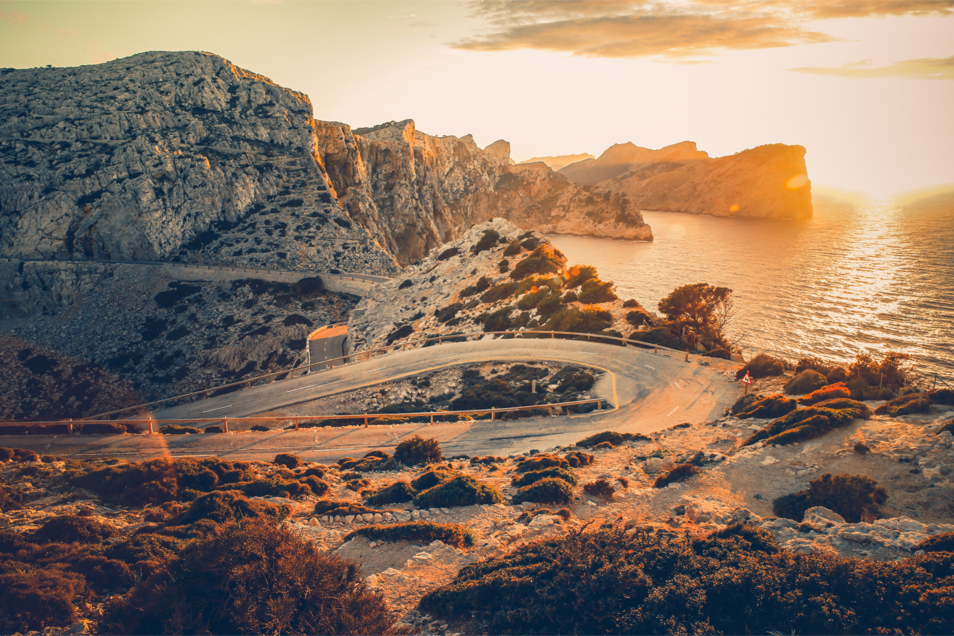 Sa Calobra road sunset