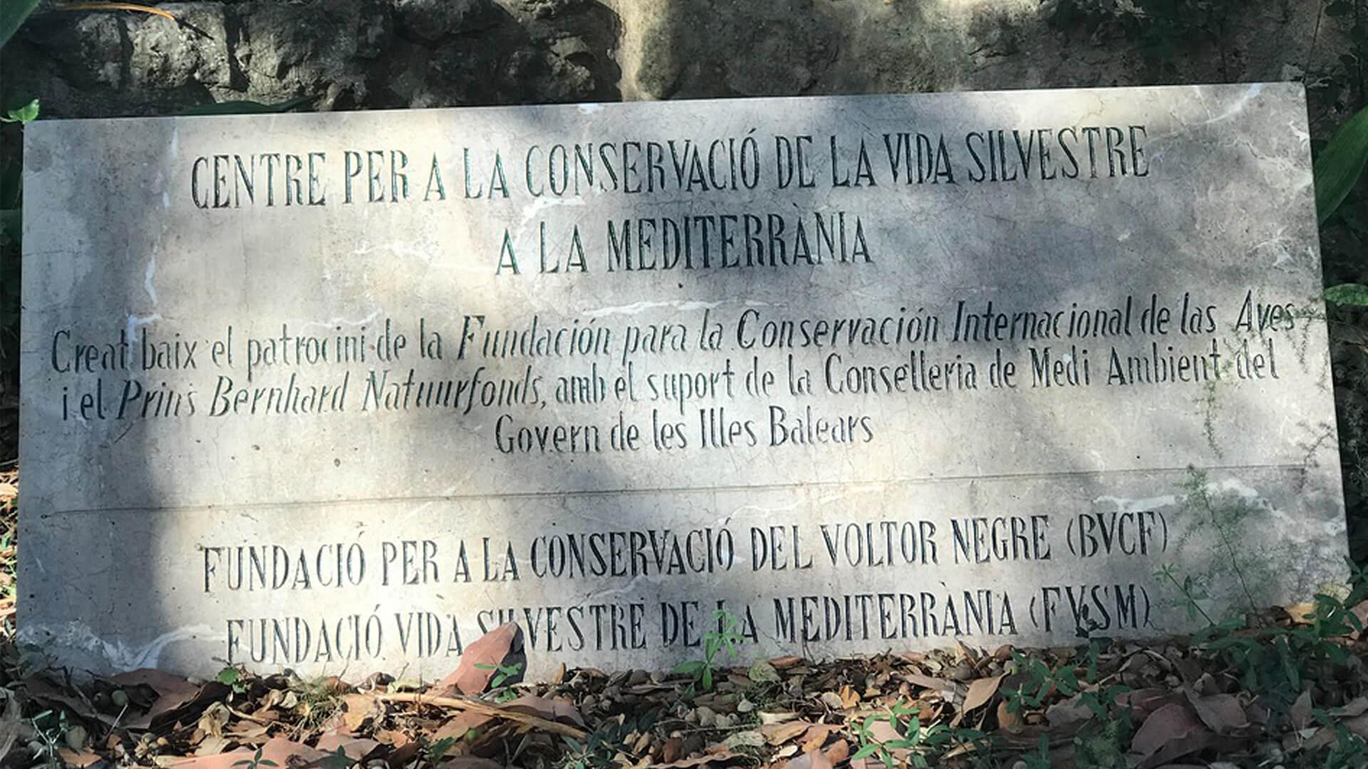 Vulure sanctuary mallorca sign